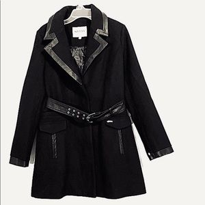 Guess Los Angeles Wool Blend Belted Coat Size S